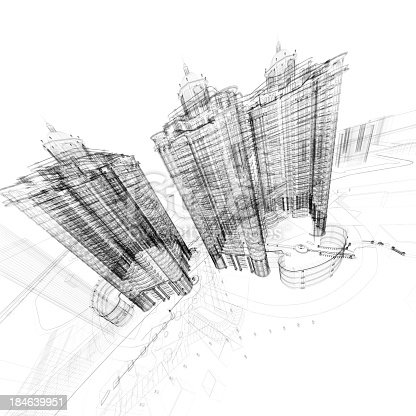 184405668 istock photo Architecture Blueprint 184639951