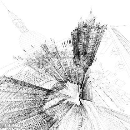 168442513 istock photo Architecture Blueprint 184649663