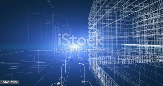 821915804 istock photo Architecture Blueprint 544562550