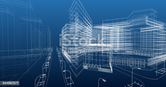 452589447 istock photo Architecture Blueprint 544562572