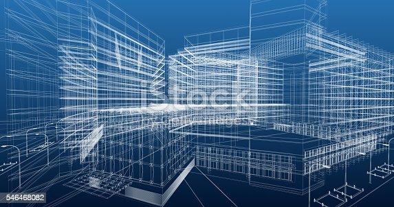 istock Architecture Blueprint 546468082