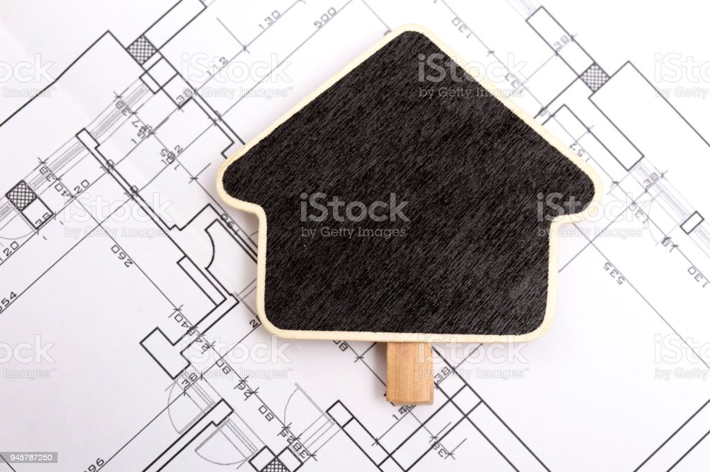 Architecture blueprint with wooden sign stock photo more pictures architecture blueprint with wooden sign royalty free stock photo malvernweather Gallery