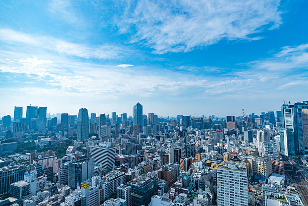 architecture buildings cityscape in tokyo skyline at japan - 昼間 ストックフォトと画像