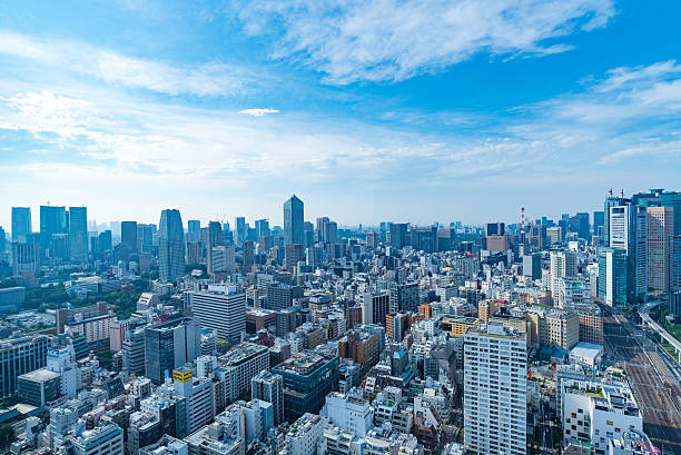 Architecture buildings cityscape in Tokyo skyline at Japan Architecture buildings cityscape in Tokyo skyline at Japan generic description stock pictures, royalty-free photos & images