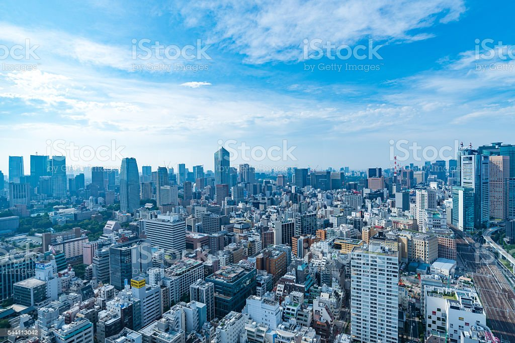 Architecture buildings cityscape in Tokyo skyline at Japan ストックフォト