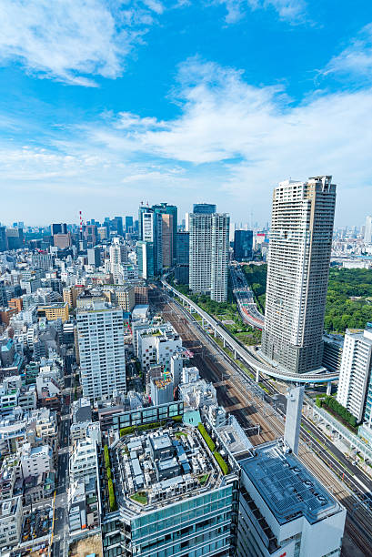 Architecture buildings cityscape in Tokyo skyline at Japan – Foto