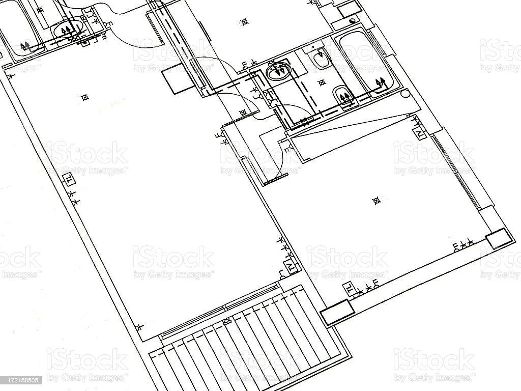 Architecture. Buliding plan royalty-free stock photo