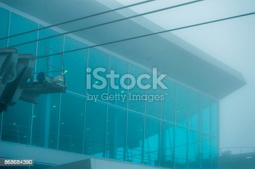 533437662 istock photo Architecture Cable car building cable out 868684390