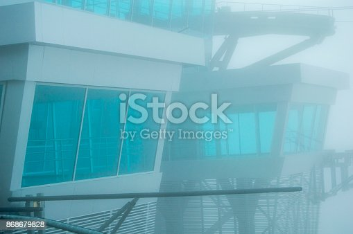 533437662 istock photo Architecture Cable car building close up 868679828