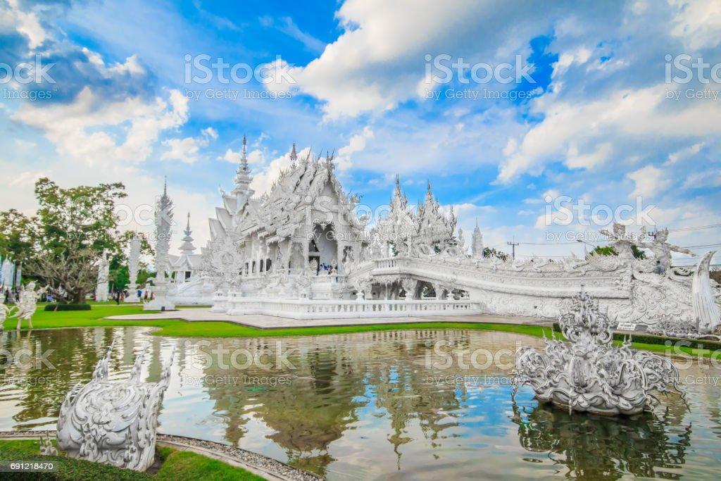 Architecture, Chiang Rai Province, Church, Cultures, Horizontal, Human Body Part, Human Hand, Photography, Sculpture, Statue, Temple - Building, Thai Culture, Thailand, Wat, Wat Rong Khun, White Color, stock photo