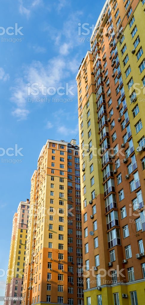 Architecture cityscape view with modern building skyscrapers royalty-free stock photo