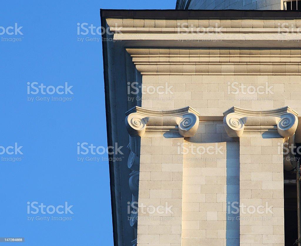 Architecture columns stock photo
