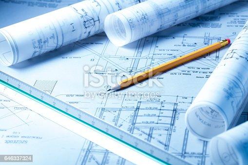 istock Architecture concept 646337324