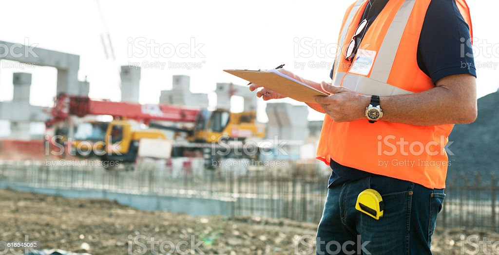 Architecture Construction Safety First Career Concept stock photo