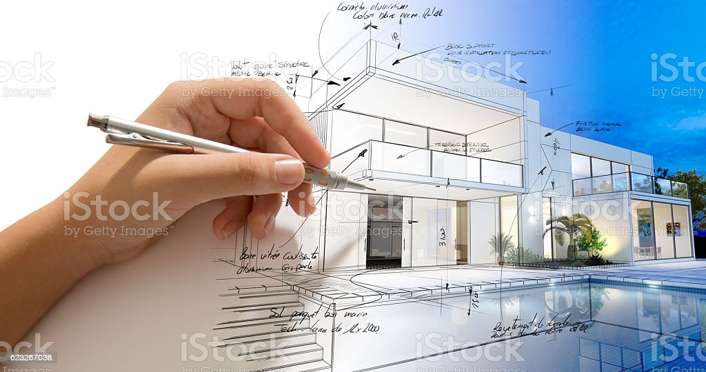 Architecture creative process stock photo