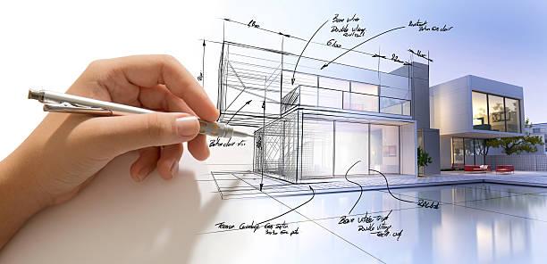 Architecture creative process - foto de stock