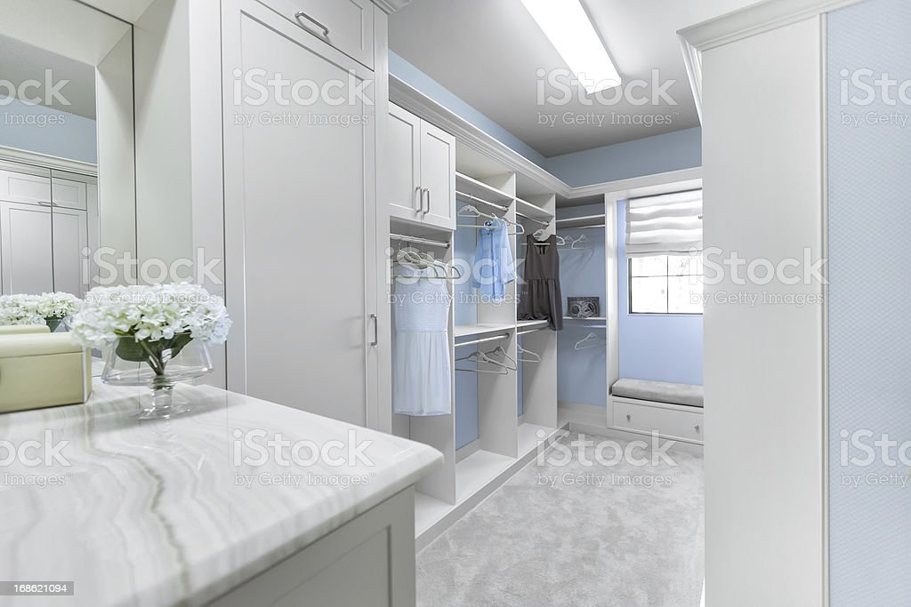 Architecture: Custom closet stock photo