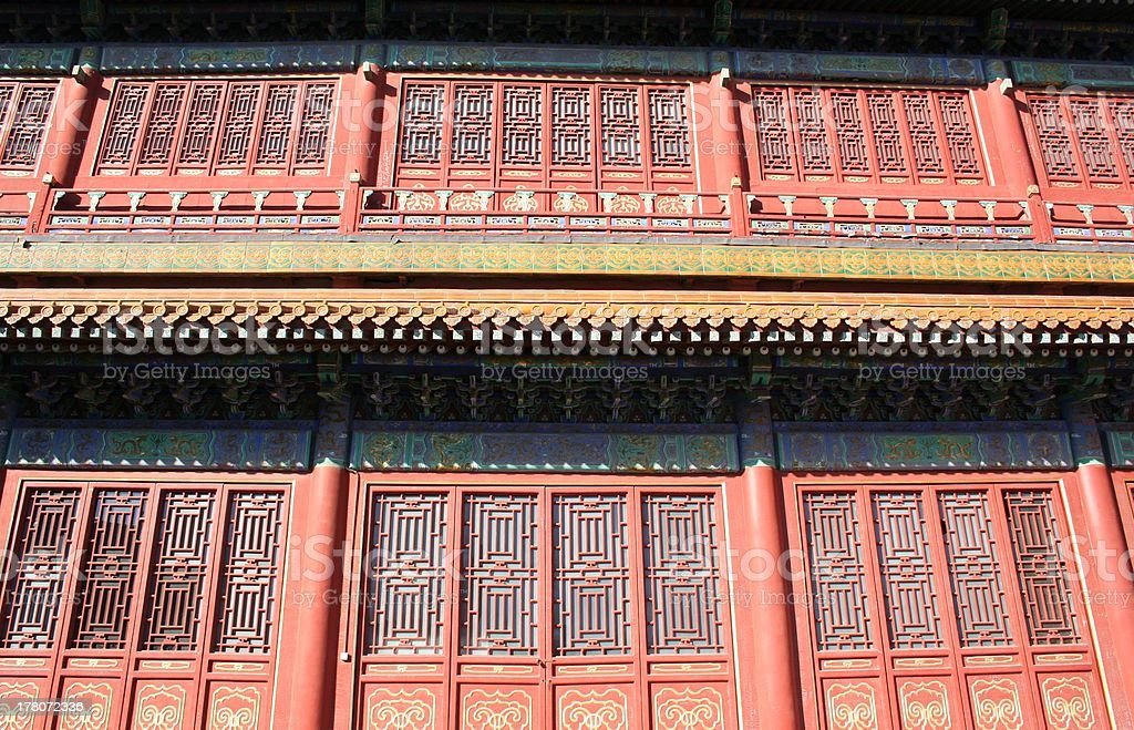 Architecture Detail close Hall of Character Cultivation, Forbidden City, Beijing royalty-free stock photo