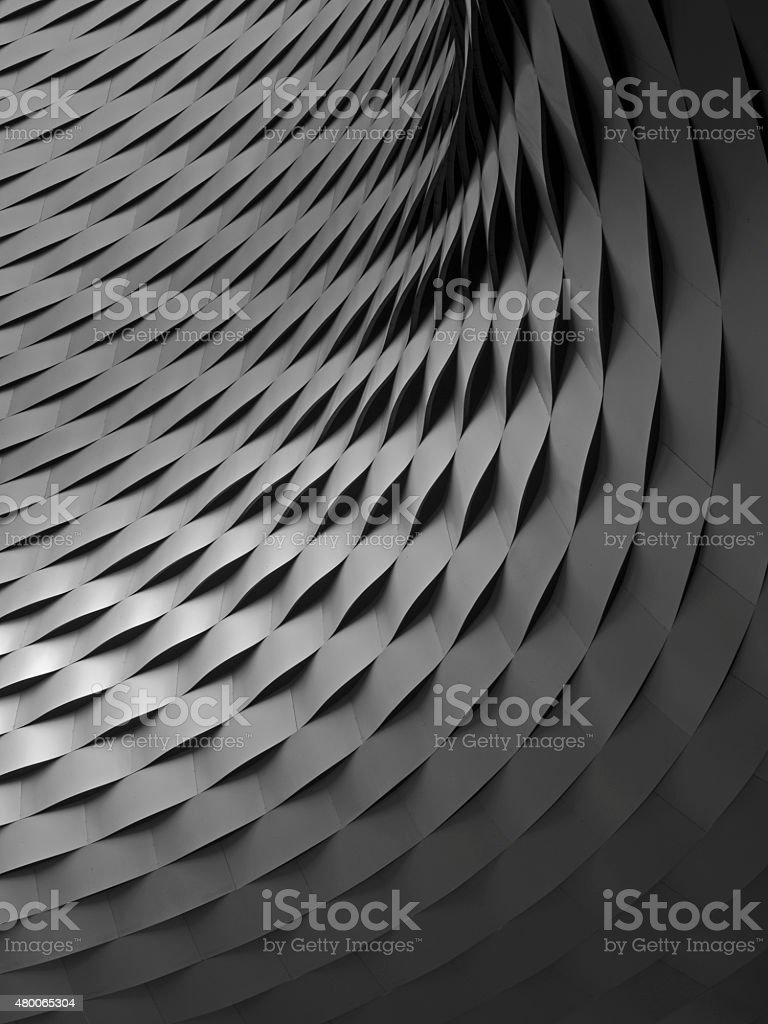 Architecture detail, metal slats stock photo