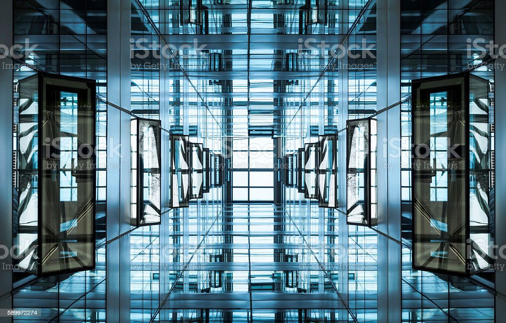Architecture detail Modern Building Glass facade stock photo