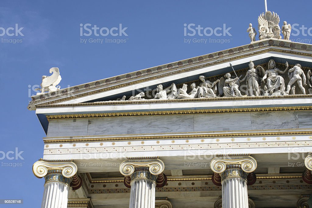 Architecture detail of a Classical Greek building royalty-free stock photo