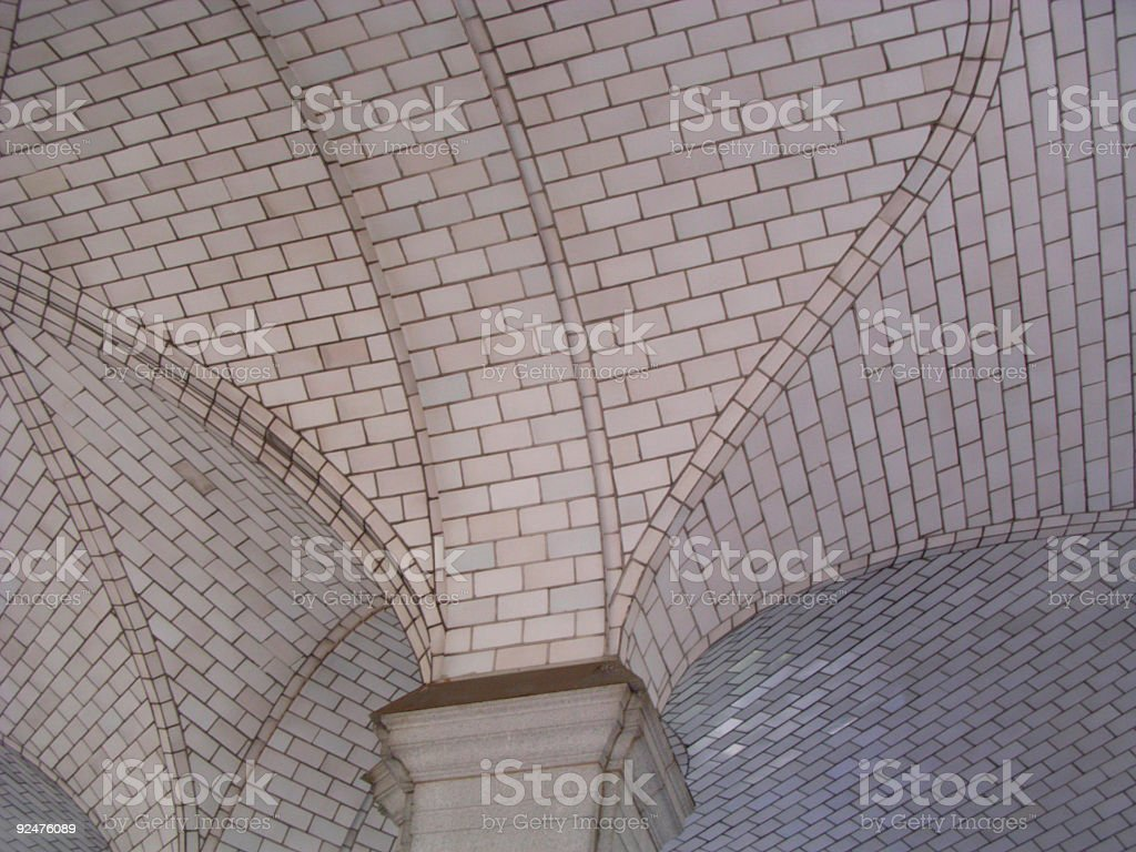 Architecture Detail of Ceiling royalty-free stock photo