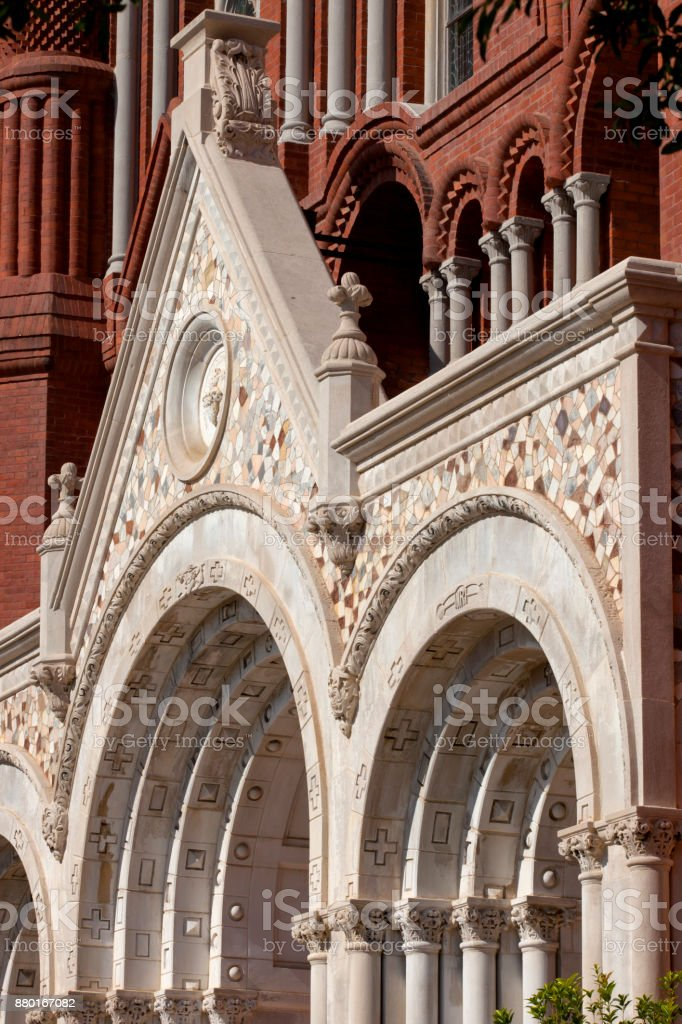 Architecture Detail of Church stock photo