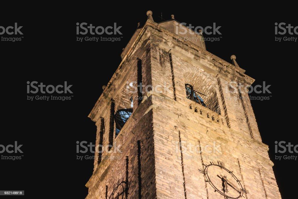 architecture detail of the Romanesque basilica Saint Jacob in Bellagio stock photo