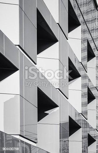 istock Architecture details Geometric window Building Exterior 904430758