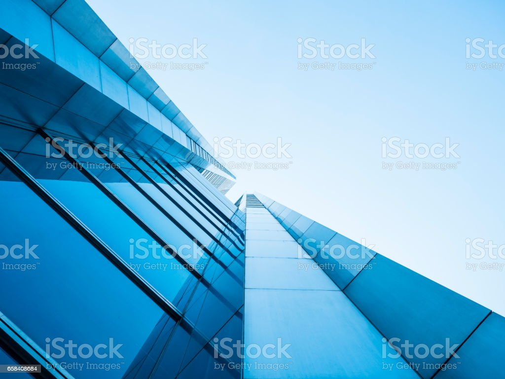 Architecture details Modern Building Glass facade design stock photo