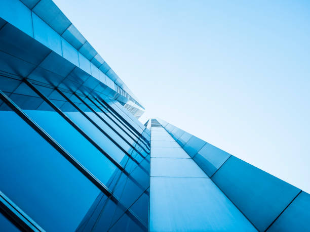 architecture details modern building glass facade design - architecture stock photos and pictures