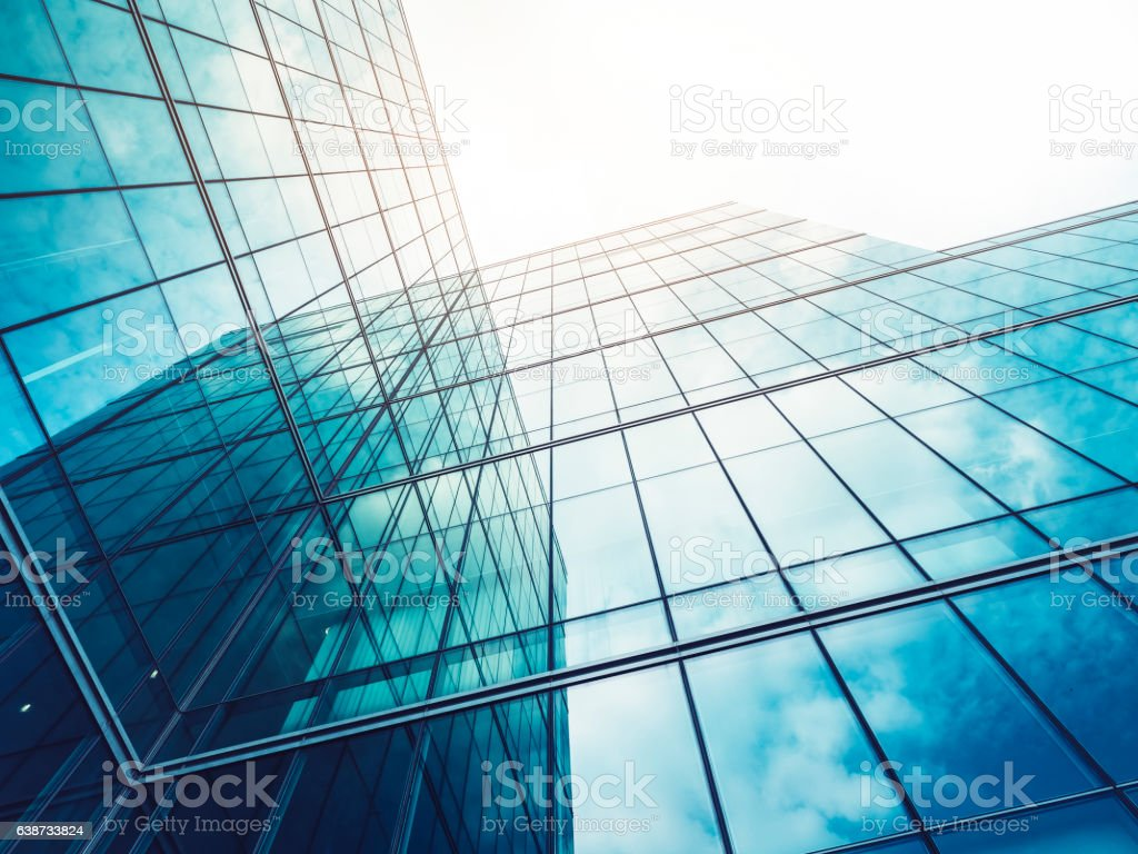 Architecture details Modern Building Glass facade Exterior - Royalty-free Abstract Stock Photo