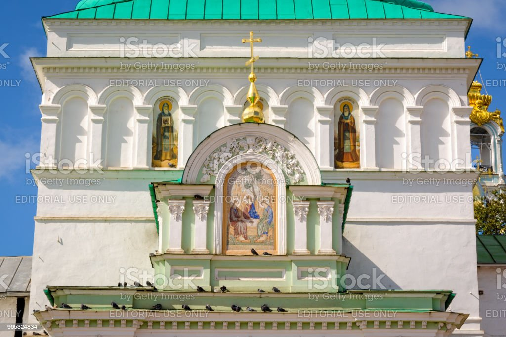 Architecture details of Holy gates in Sergiyev Posad, Russia zbiór zdjęć royalty-free