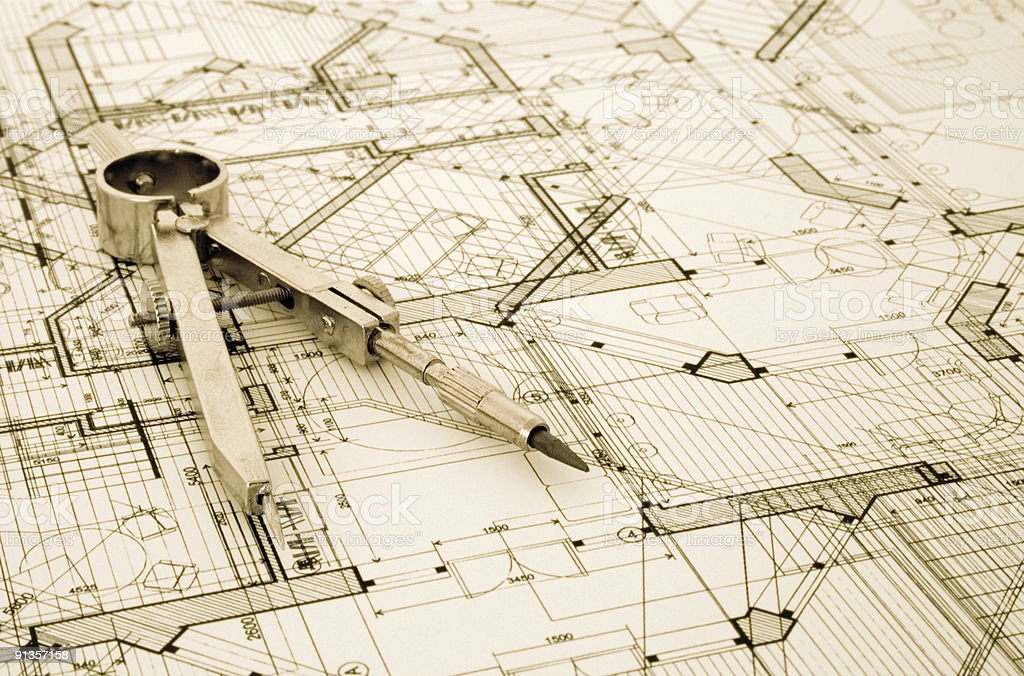 architecture draw royalty-free stock photo