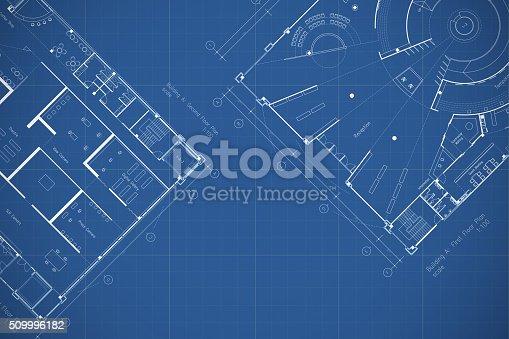 479023658 istock photo Architecture drawings blueprint, floor plan 509996182