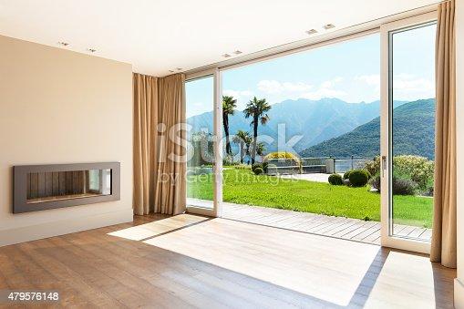 istock Architecture, empty living room 479576148