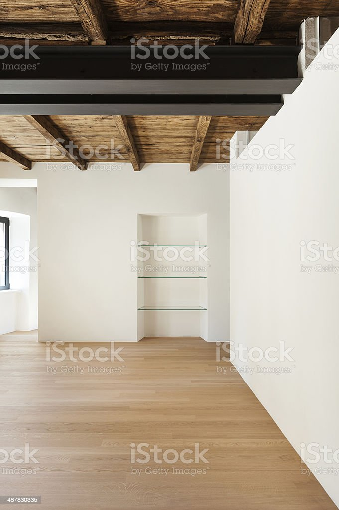 Architecture, empty loft stock photo