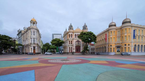 Architektur von Marco Zero Platz Stadt Recife – Foto