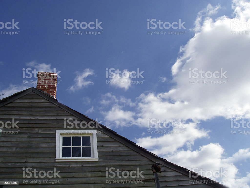 Architecture - House & Sky - Real Estate royalty-free stock photo