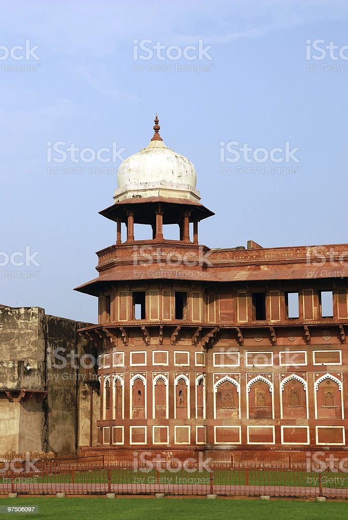 Architecture in Agra fort of India royalty-free stock photo