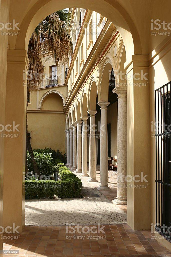 architecture in Alcazar - Sevilla Spain #1 royalty-free stock photo