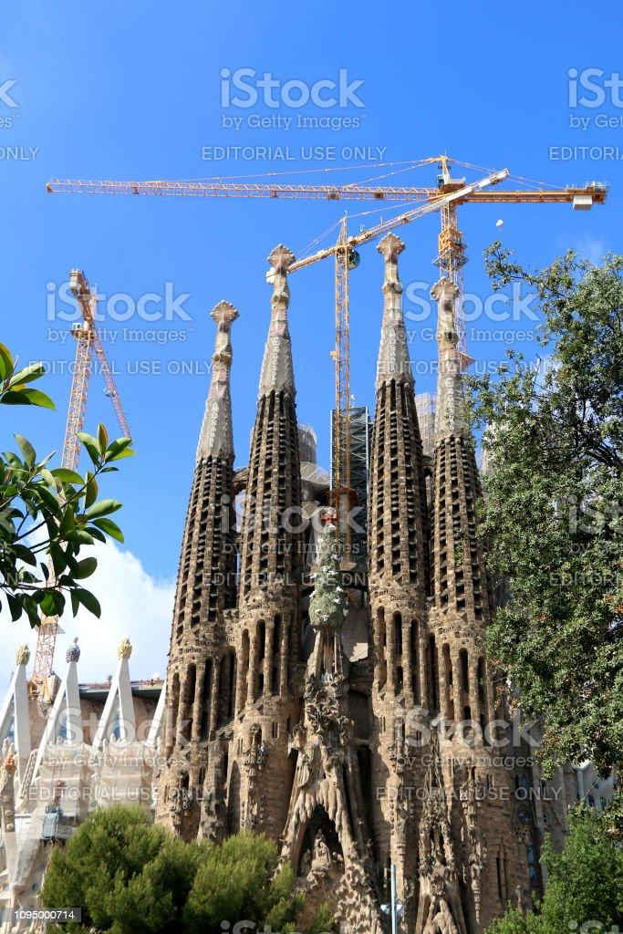 Architecture in Barcelona, Spain stock photo