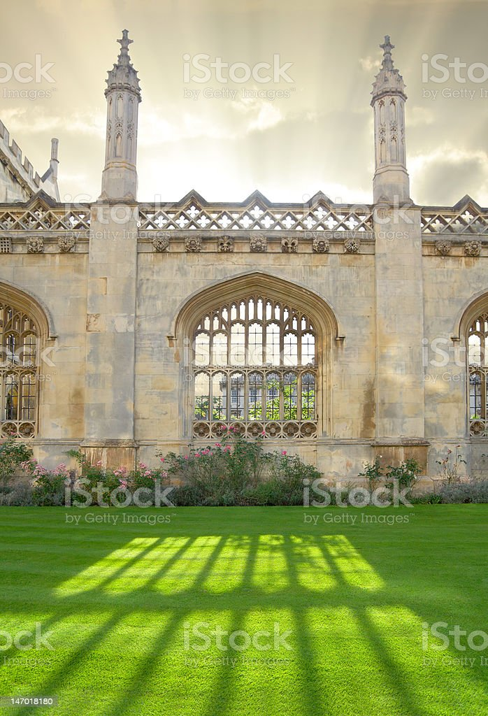 Architecture in Cambridge University, England royalty-free stock photo