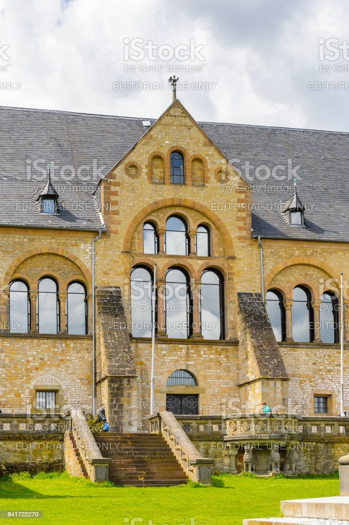 Architecture in Goslar, Germany stock photo