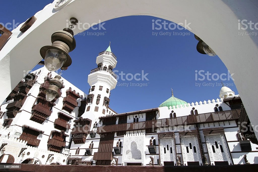 Architecture in Jeddah stock photo