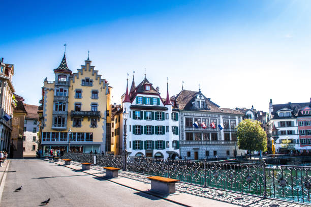 architecture in luzern, switzerland - lucerne stock pictures, royalty-free photos & images