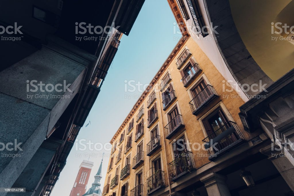 architecture in Madrid stock photo
