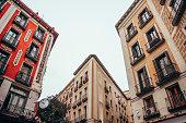 Blocks of apartments in Madrid, Spain