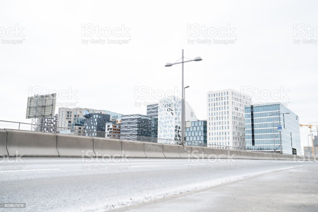Architecture in Oslo in South Norway stock photo