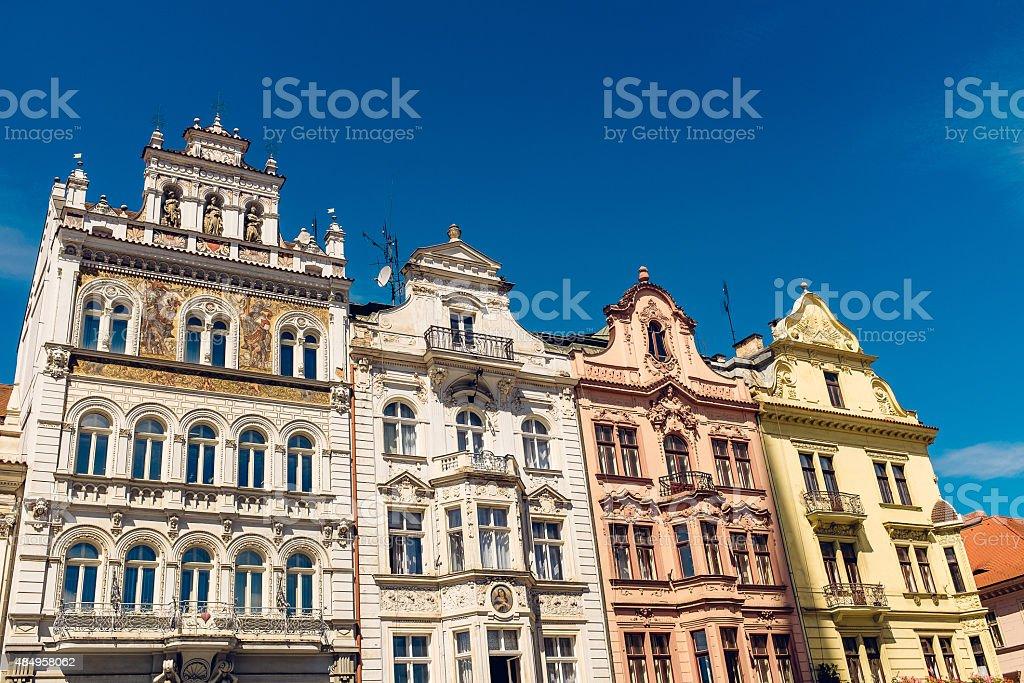 Architecture in Plzen, Czech Republic stock photo